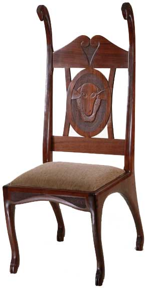 Flock of the Shepherdess chair.